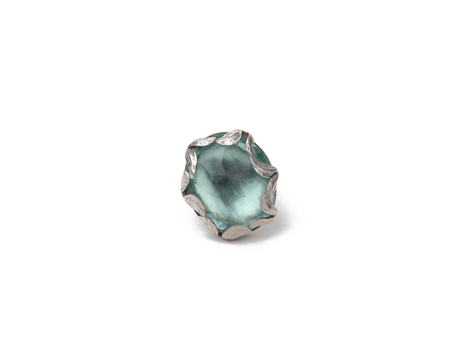 Silver Ring with Blue Quartz