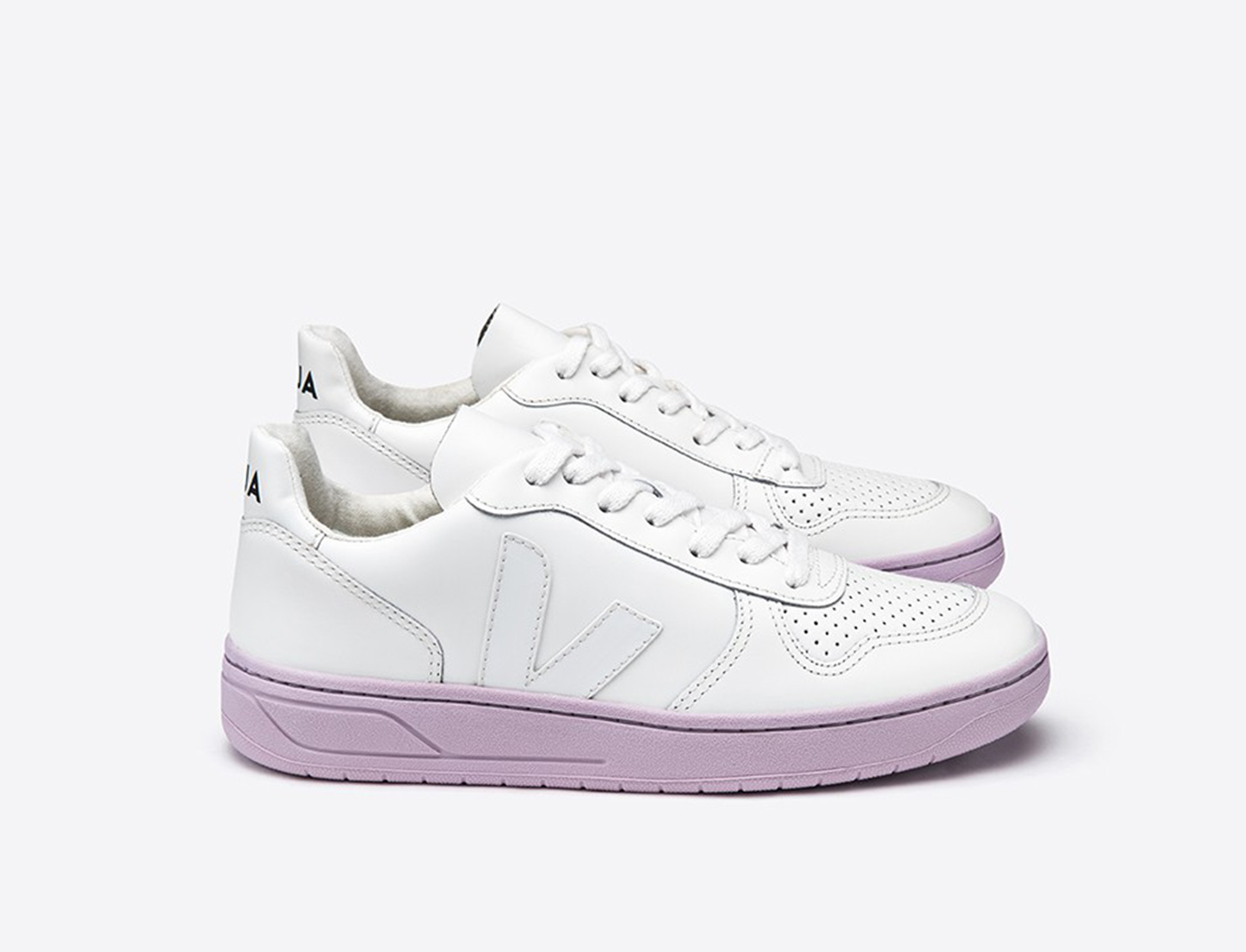 V10 LEATHER EXTRA WHITE LILAS SOLE