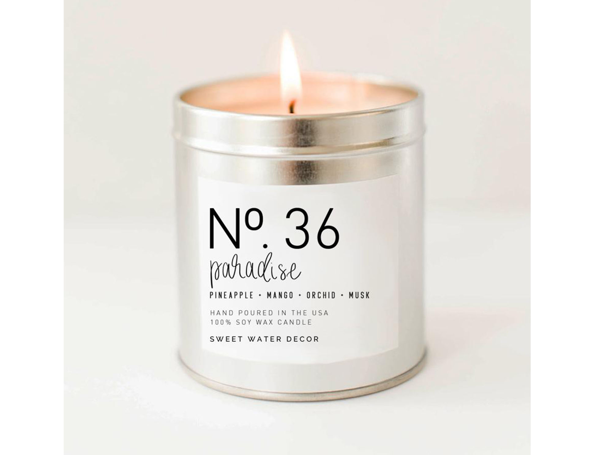 Paradise Soy Candle | Silver Tin Candle