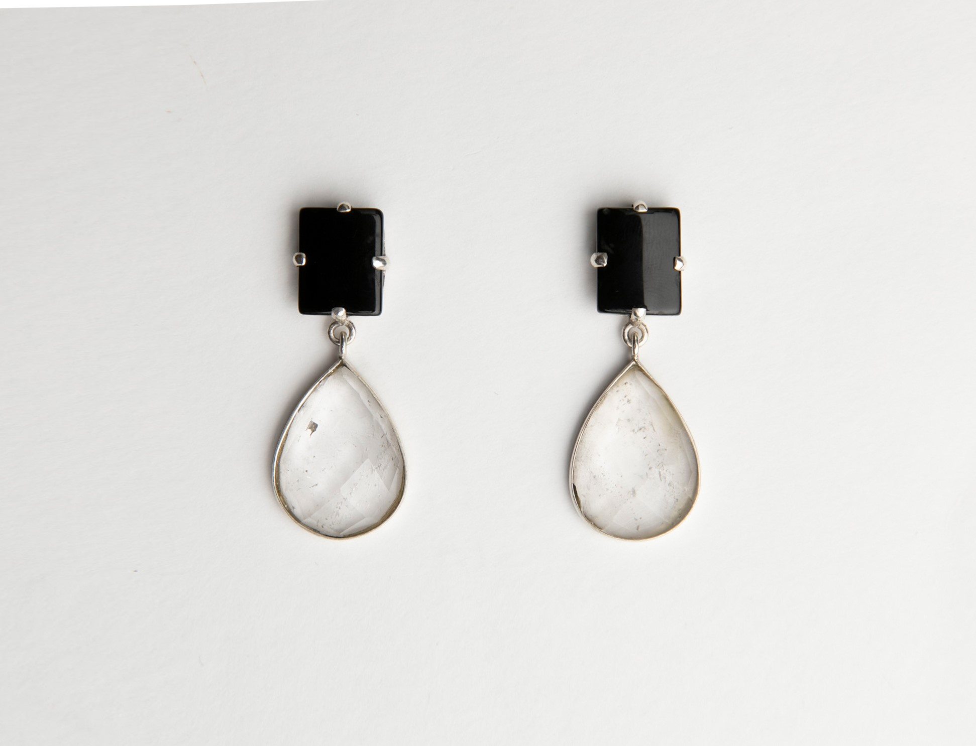 Crystal Mountain And Agate Earrings