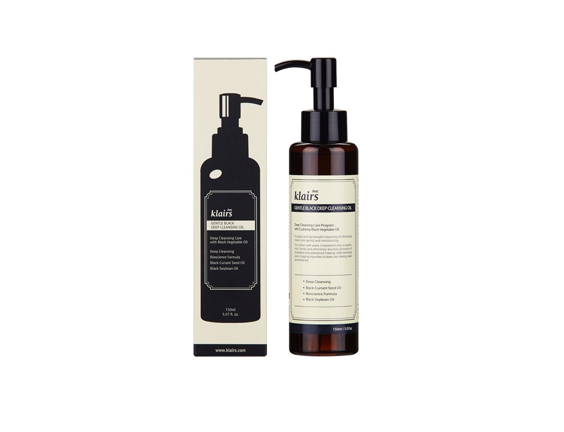 Gentle Black Deep Cleansing Oil for All Skin Types