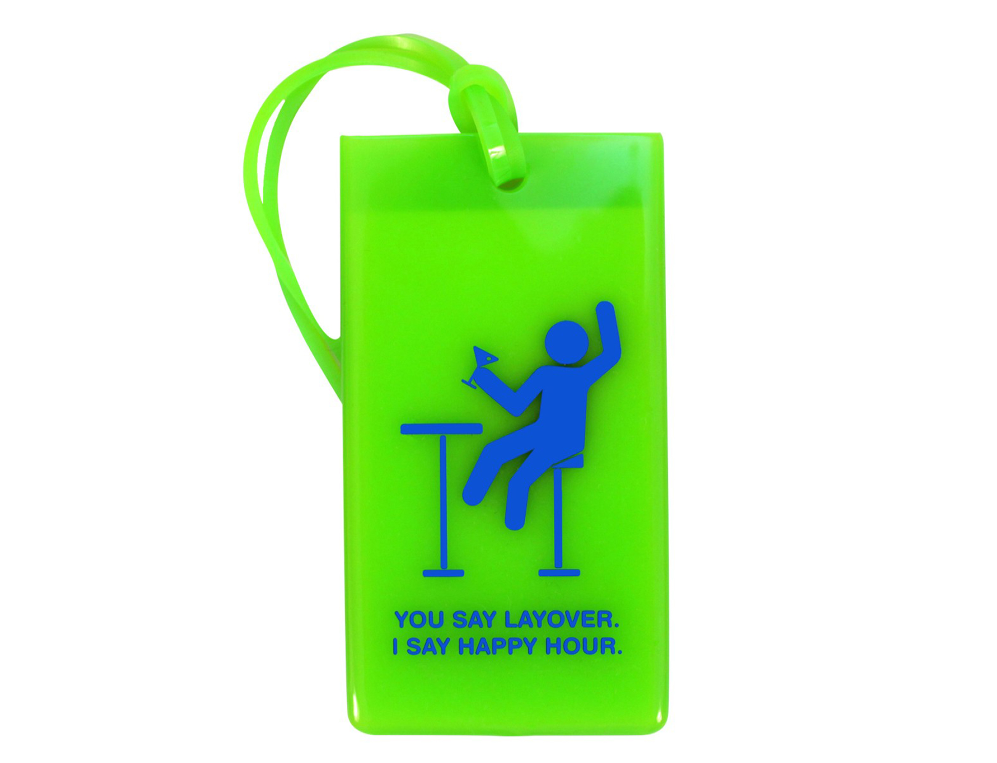 "RUBBER TAG ""HAPPY HOUR"""