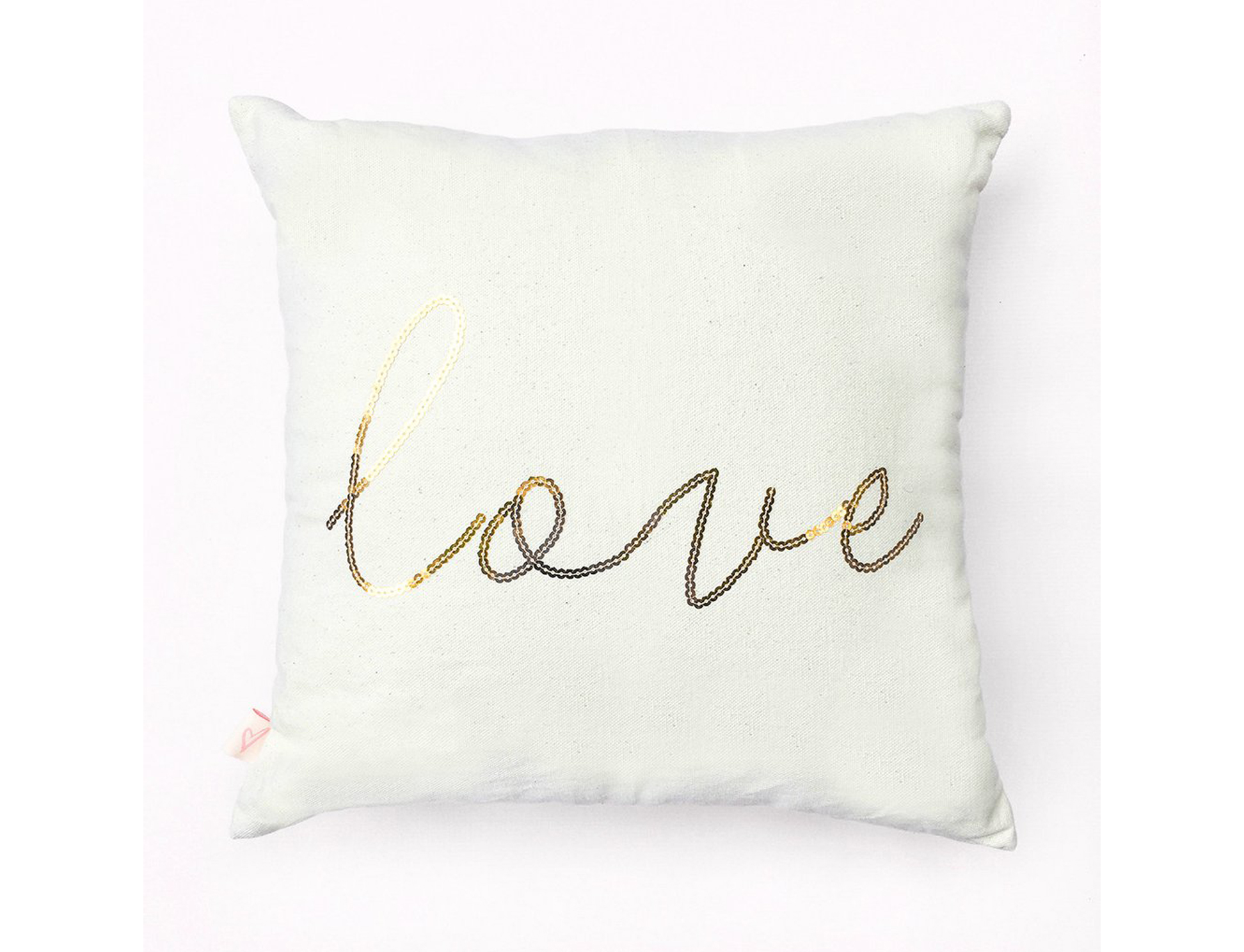 LOVE CANVAS PILLOW COVER